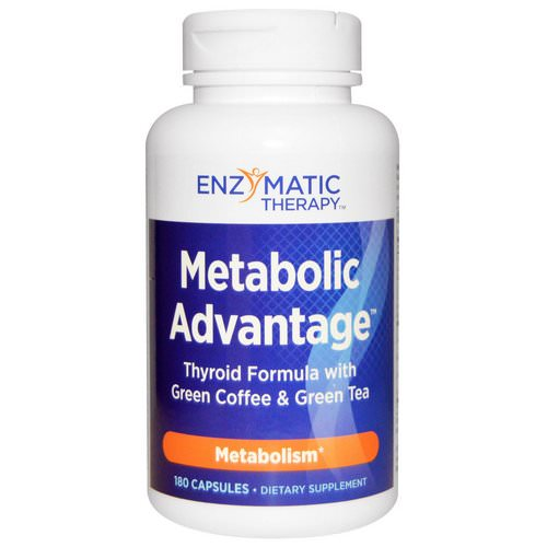 Nature's Way, Metabolic Advantage, Thyroid Formula with Green Coffee & Green Tea, Metabolism, 180 Capsules Review