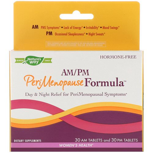 Nature's Way, PeriMenopause Formula, AM/PM, 60 Tablets Review