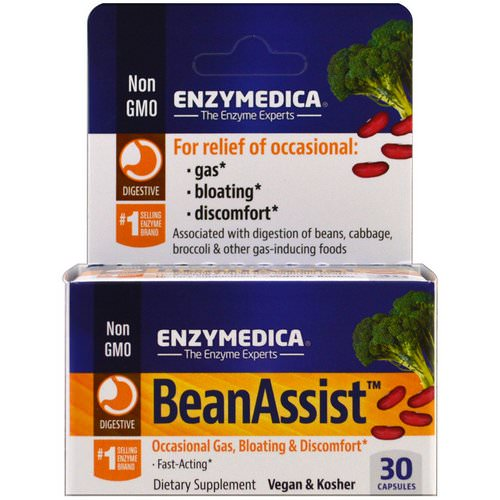 Enzymedica, BeanAssist, 30 Capsules Review