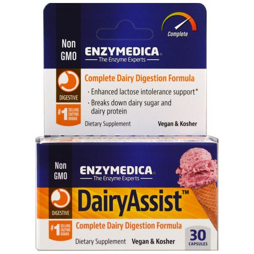 Enzymedica, DairyAssist, 30 Capsules Review
