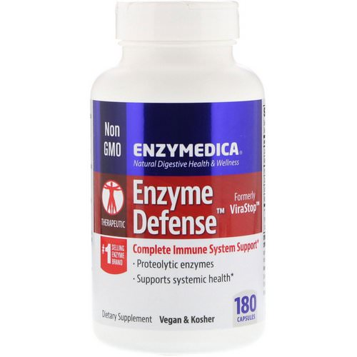Enzymedica, Enzyme Defense (Formerly ViraStop), 180 Capsules Review