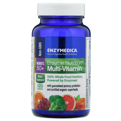 Enzymedica, Enzyme Nutrition Multi-Vitamin, Women's 50+, 120 Capsules Review