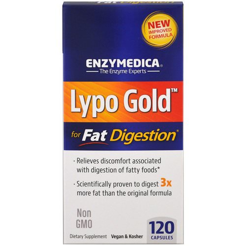 Enzymedica, Lypo Gold, For Fat Digestion, 120 Capsules Review