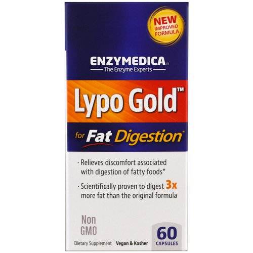 Enzymedica, Lypo Gold, For Fat Digestion, 60 Capsules Review