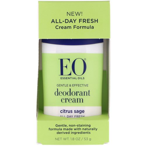 EO Products, Deodorant Cream, Citrus Sage, 1.8 oz (53 g) Review