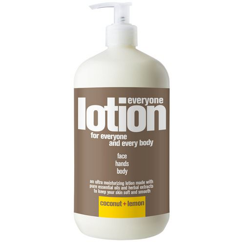 EO Products, Everyone Lotion, 3 in 1, Coconut + Lemon, 32 fl oz (946 ml) Review