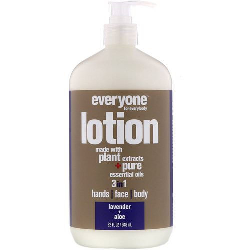 EO Products, Everyone Lotion, 3 in 1, Lavender + Aloe, 32 fl oz (946 ml) Review