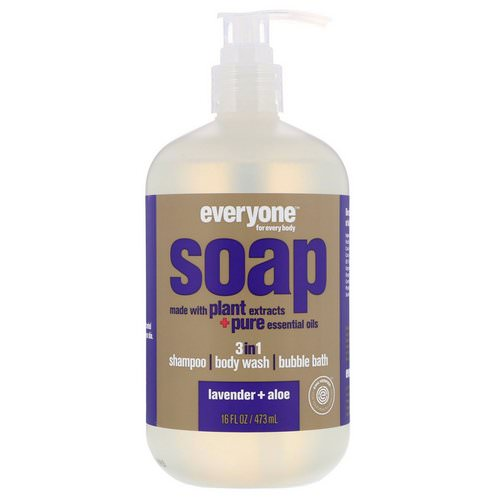 EO Products, Everyone Soap, 3 in 1, Lavender + Aloe, 16 fl oz (473 ml) Review