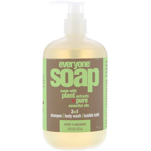 EO Products, Everyone Soap, 3 in 1, Mint + Coconut, 16 fl oz (473 ml) Review