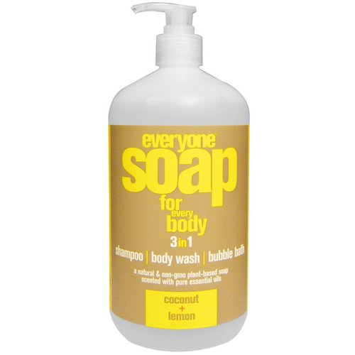EO Products, Everyone Soap for Every Body, 3 in 1, Coconut + Lemon, 32 fl oz (946 ml) Review
