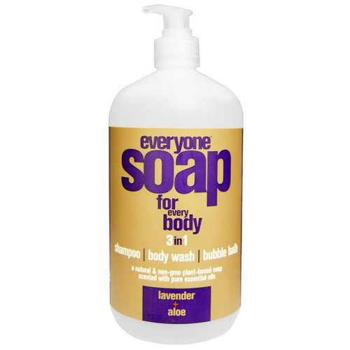 EO Products, Everyone Soap for Every Body, 3 In One, Lavender + Aloe, 32 fl oz (946 ml) Review