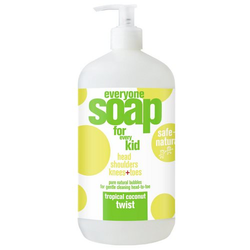 EO Products, Everyone Soap for Every Kid, Tropical Coconut Twist, 32 fl oz (946 ml) Review