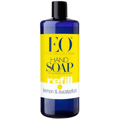 EO Products, Hand Soap, Refill, Lemon & Eucalyptus, 32 fl oz (946 ml) Review
