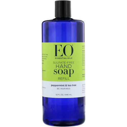 EO Products, Hand Soap Refill, Peppermint & Tea Tree, Sulfate-Free, 32 fl oz (946 ml) Review