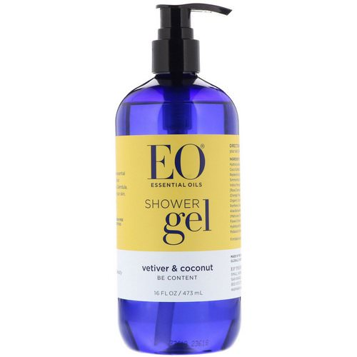 EO Products, Shower Gel, Vetiver & Coconut, 16 fl oz (473 ml) Review