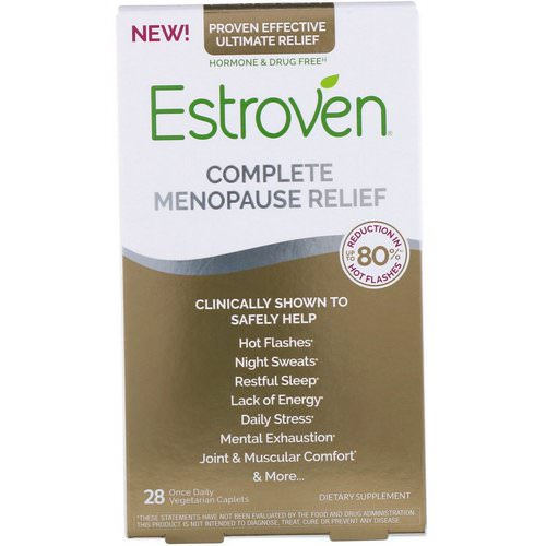 Estroven, Complete Menopause Relief, 28 Vegetarian Caplets Review