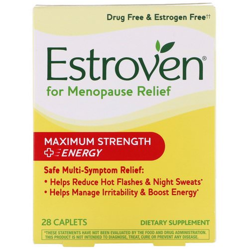 Estroven, Menopause Relief, Maximum Strength + Energy, 28 Caplets Review