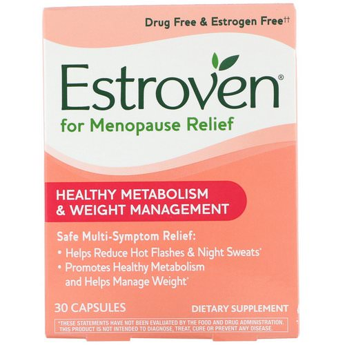 Estroven, Menopause Relief, Healthy Metabolism & Weight Management, 30 Capsules Review