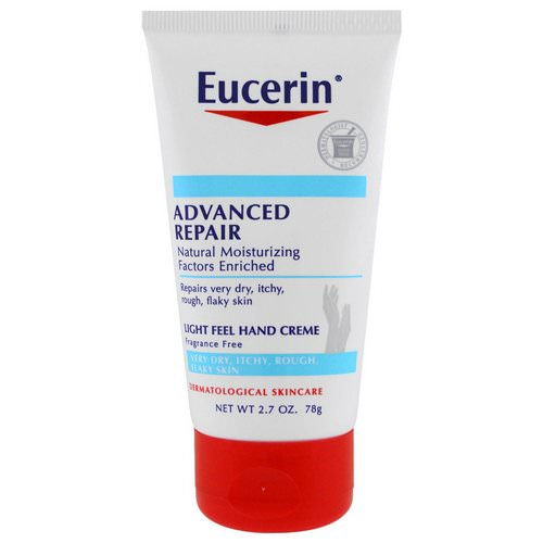 Eucerin, Advanced Repair Hand Creme, Fragrance Free, 2.7 oz (78 g) Review