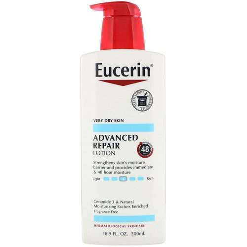 Eucerin, Advanced Repair Lotion, Fragrance Free, 16.9 fl oz (500 ml) Review