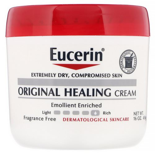 Eucerin, Original Healing Cream, For Extremely Dry, Compromised Skin, Fragrance Free, 16 oz (454 g) Review