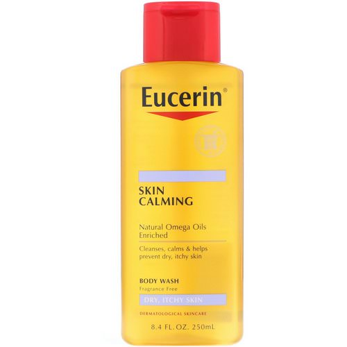 Eucerin, Skin Calming Body Wash, For Dry, Itchy Skin, Fragrance Free, 8.4 fl oz (250 ml) Review