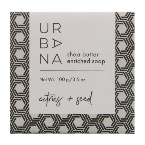 European Soaps, Urbana, Shea Butter Enriched Soap, Citrus + Seed, 3.5 oz (100 g) Review