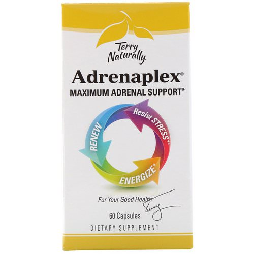 EuroPharma, Terry Naturally, Adrenaplex, Maximum Adrenal Support, 60 Capsules Review