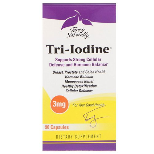 EuroPharma, Terry Naturally, Tri-Iodine, 3 mg, 90 Capsules Review