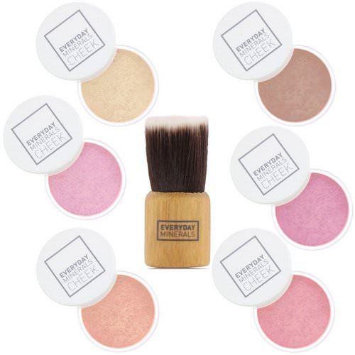 Everyday Minerals, Cheek to Cheek, Blush & Highlighter Palette, 7 Piece Set Review