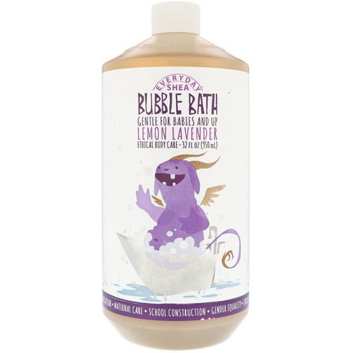 Alaffia, Everyday Shea, Bubble Bath, Babies & Kids, Lemon Lavender, 32 fl oz (950 ml) Review