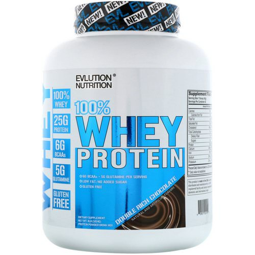 EVLution Nutrition, 100% Whey Protein, Double Rich Chocolate, 4 lb (1814 g) Review