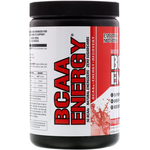 EVLution Nutrition, BCAA Energy, Fruit Punch, 10.2 oz (288 g) Review