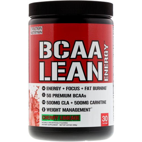 EVLution Nutrition, BCAA Lean Energy, Cherry Limeade, 11.6 oz (330 g) Review