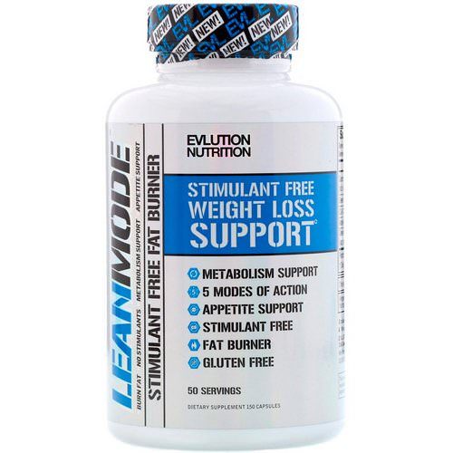 EVLution Nutrition, Lean Mode, Stimulant-Free Fat Burner Supplement, 150 Capsules Review