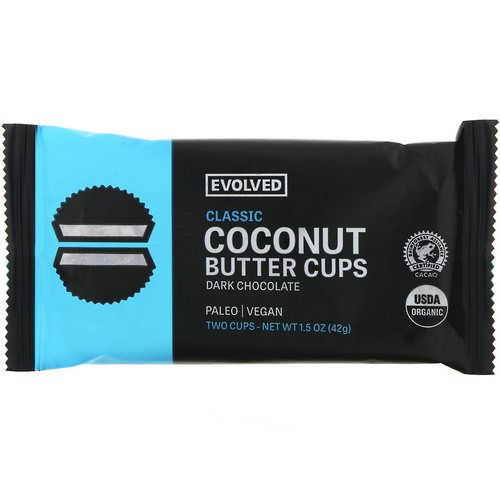 Evolved Chocolate, Dark Chocolate, Coconut Butter Cups, Classic, Two Cups, 1.5 oz (42 g) Review