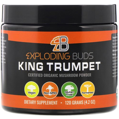 Exploding Buds, King Trumpet, Certified Organic Mushroom Powder, 4.2 oz (120 g) Review