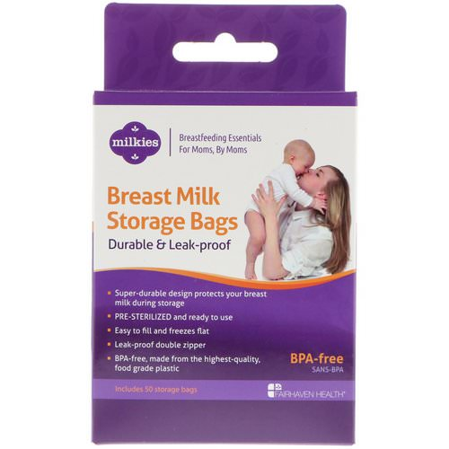 Fairhaven Health, Breast Milk Storage Bags, Durable & Leak-Proof, 50 Storage Bags Review