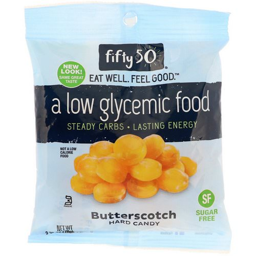 Fifty 50, Low Glycemic Hard Candy, Butterscotch, 2.75 oz (78 g) Review