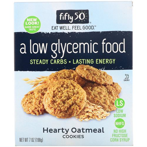 Fifty 50, Low Glycemic Hearty Oatmeal Cookies, 7 oz (198 g) Review