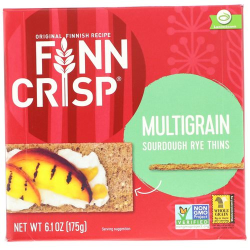 Finn Crisp, Multigrain Sourdough Rye Thins, 6.2 oz (175 g) Review