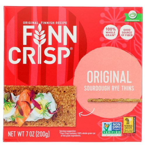 Finn Crisp, Sourdough Rye Thins, Original, 7 oz (200 g) Review