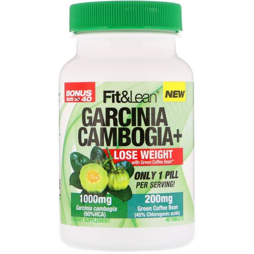 Fit & Lean, Garcinia Cambogia+, 40 Tablets Review
