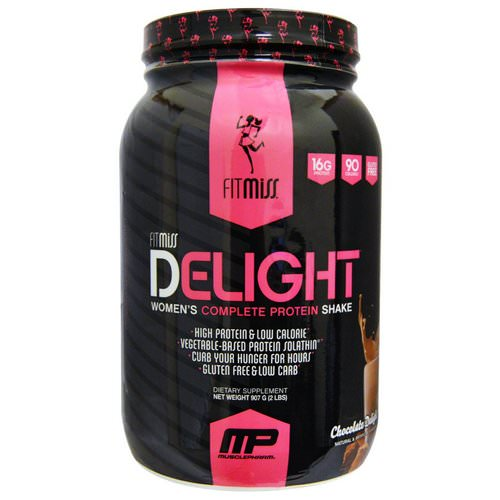 FitMiss, Delight, Women's Complete Protein Shake, Chocolate Delight, 2 lbs (907 g) Review