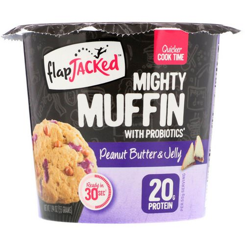 FlapJacked, Mighty Muffin with Probiotics, Peanut Butter and Jelly, 1.94 oz (55 g) Review
