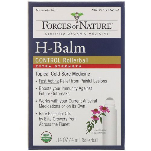 Forces of Nature, H-Balm Control, Extra Strength, Rollerball, 0.14 oz (4 ml) Review