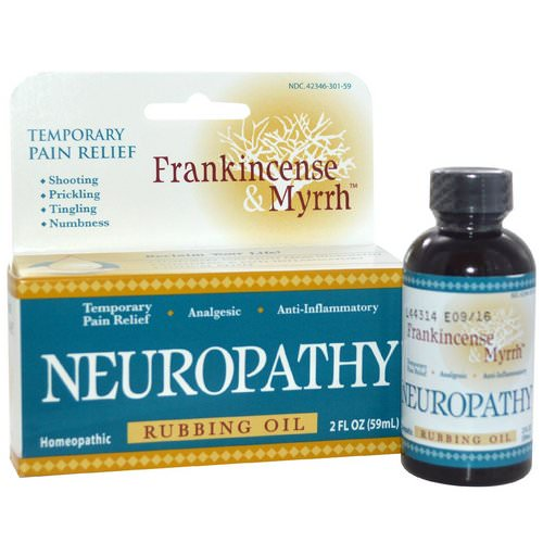 Frankincense & Myrrh, Frankincense & Myrrh, Neuropathy, Rubbing Oil, 2 fl oz (59 ml) Review