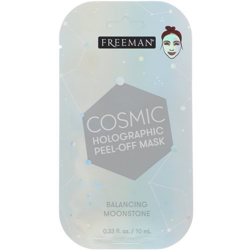 Freeman Beauty, Cosmic Holographic Peel-Off Mask, Balancing Moonstone, 0.33 fl oz (10 ml) Review