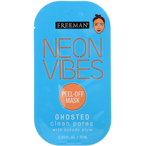 Freeman Beauty, Neon Vibes, Ghosted, Clean Pores Peel-Off Mask, 0.33 fl oz (10 ml) Review