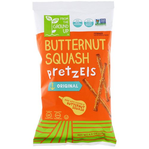 From The Ground Up, Butternut Squash Pretzel Sticks, Original, 4.5 oz (128 g) Review